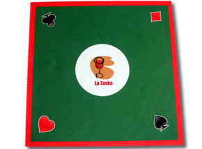 Tapete textil juego poker-39x39cms